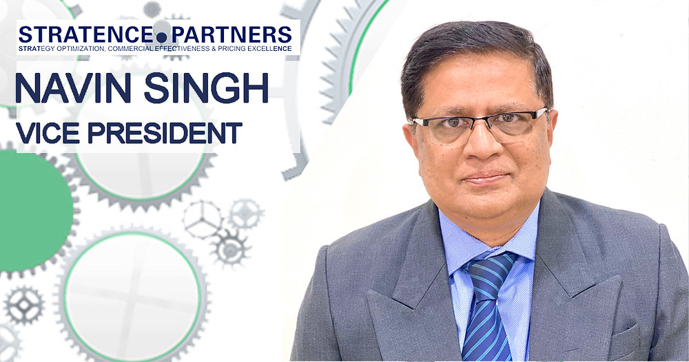 welcome Navin to the Stratence Partners' Team as a new Vice President