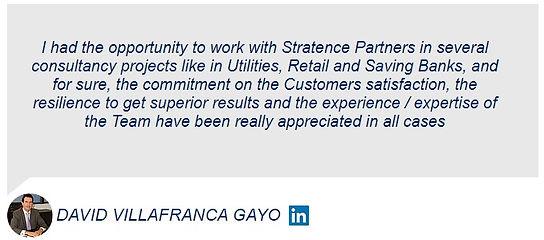 David Villafranca Stratence Partners Ref
