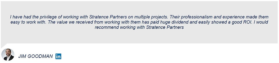 Jim Goodman Stratence Partners Reference
