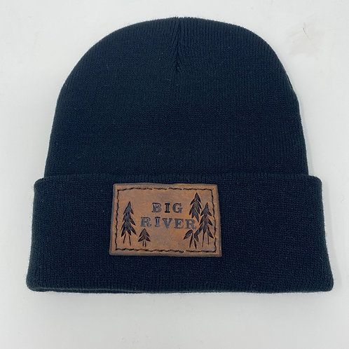 Big River leather patch toque