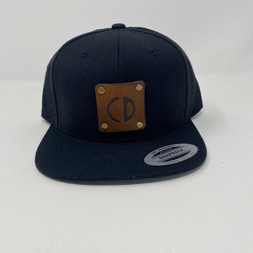CD leather patch Snapback Hat