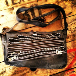 Recycled leather bag