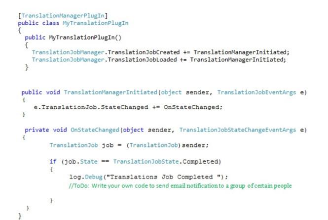 code for translation manager plugin