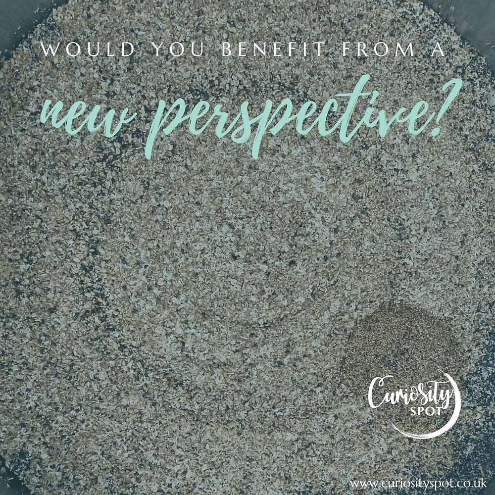 Picture of grain in a mash tun from above. Text reads: Would you benefit from a new perspective