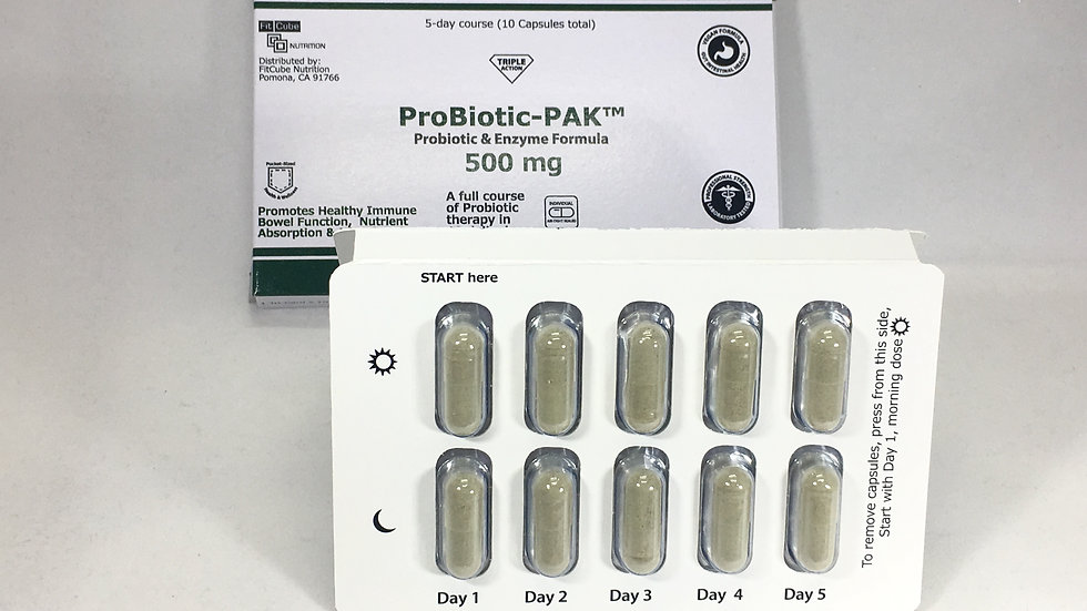 ProBiotic PACK Tri-fold Card 10 Capsules