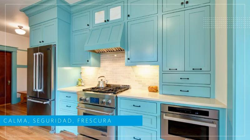 cocinas azules monocromaticas