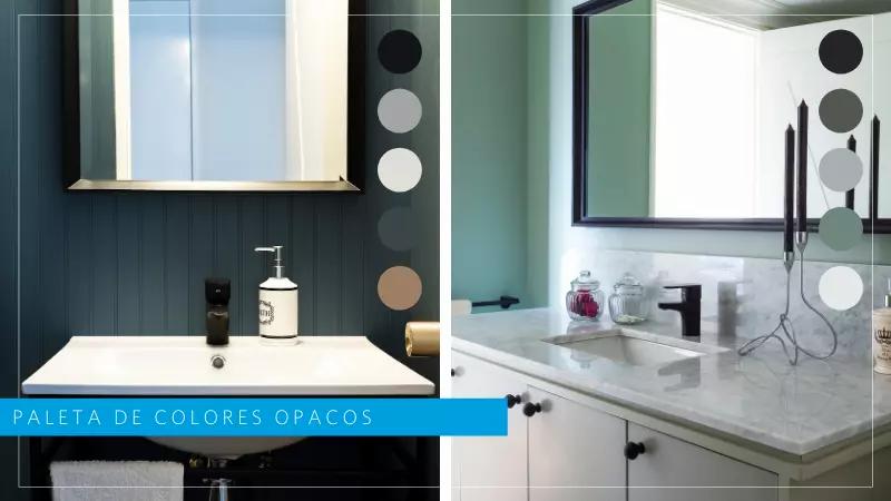 colores opacos tendencia 2021 en baños