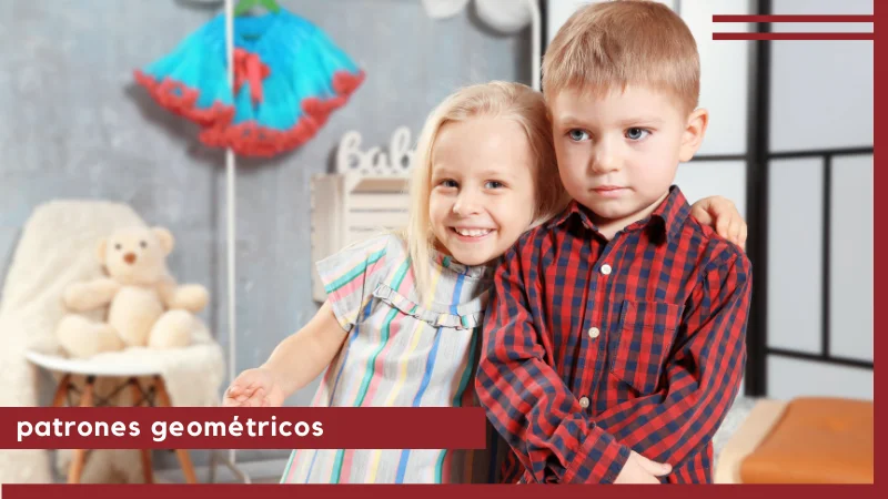 patrones geométricos moda infantil