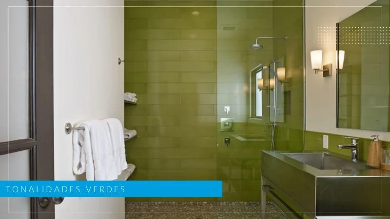 tonalidades verdes Feng Shui en baños