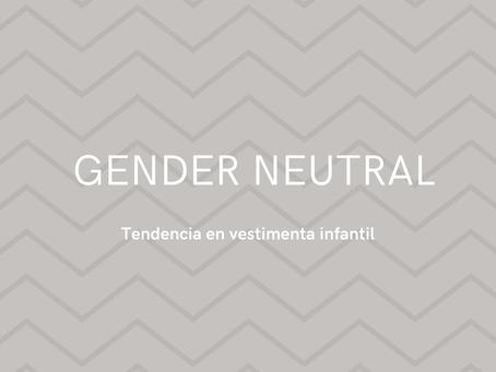 Gender Neutral, tendencia 2021 en ropa para niños y niñas