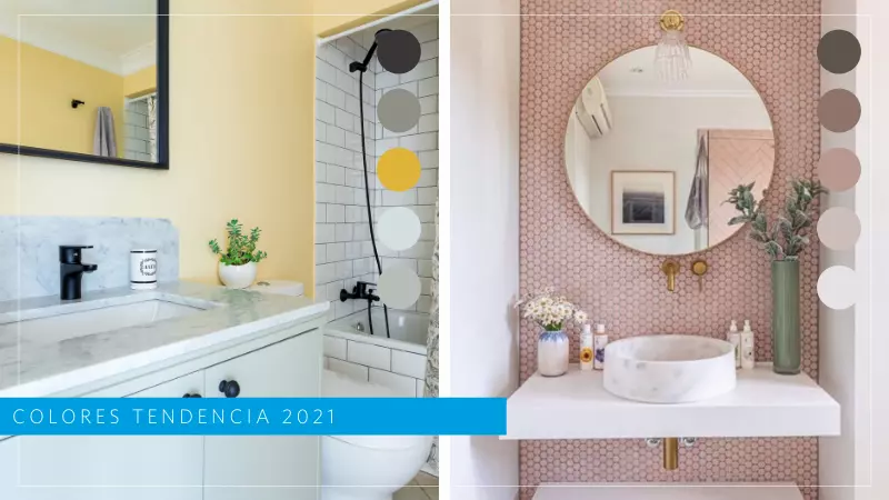 colores baños modernos