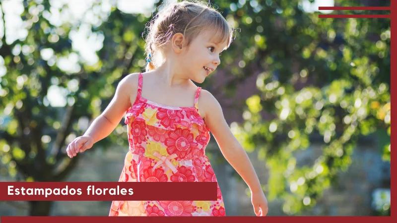estampados florales tendencia vestimenta infantil