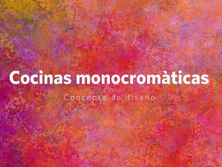¿Qué es y cómo diseñar una cocina monocromática?
