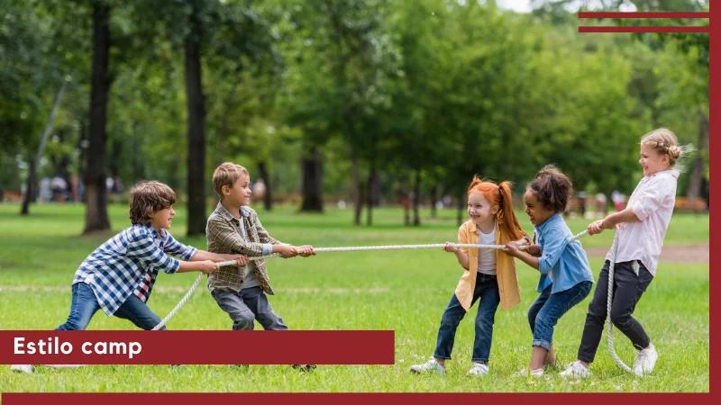 estilo camp tendencia vestimenta niños y niñas