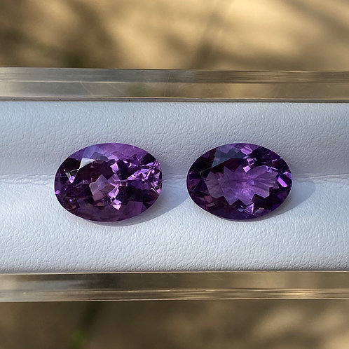 Amethyst Oval Pair 10.15Cts