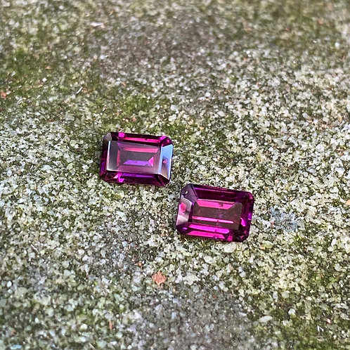 Rhodolite Garnet Rectangle Pair 1.70Ct