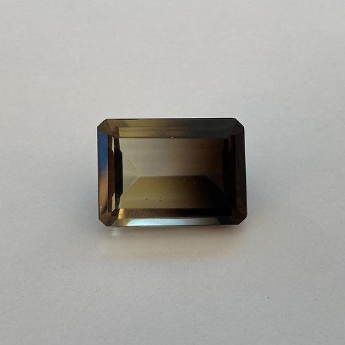 Bi-Coloured Quartz 13.86ct Rectangle
