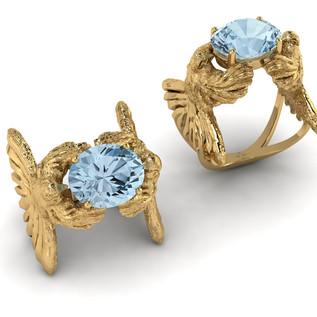 Bird ring with Aquamarine version 1.jpg
