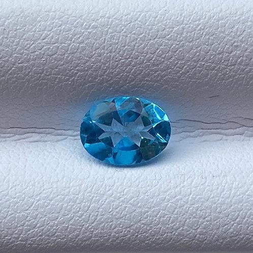 Swiss Blue Oval Topaz 1.25 Carats
