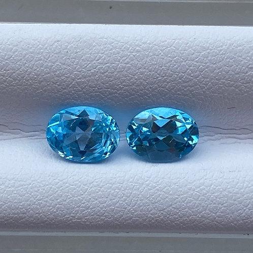 Swiss Blue Topaz Pair 3.17 Carats