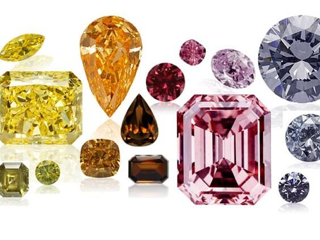 Diamonds in all colors of the rainbow!