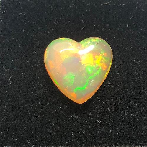 Ethiopian Opal 3.66 Heart Shaped