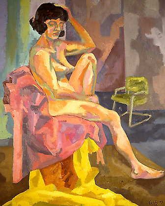 Resting Female Nude - SOLD