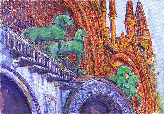 Horses at Basilica di San Marco Venic