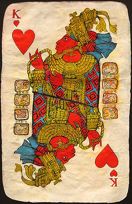 Mayan King of Hearts Playing Card