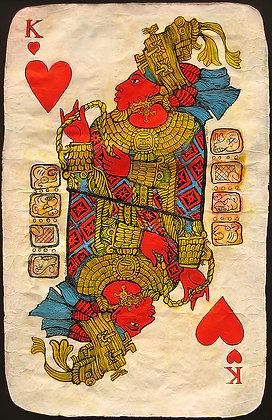 Mayan King of Hearts Playing Card