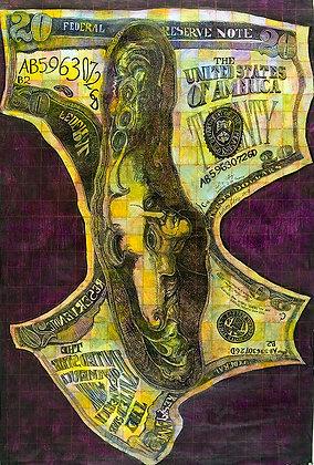 Bank Roll Money Melt Of $20.00 - Y2K+0 - SOLD