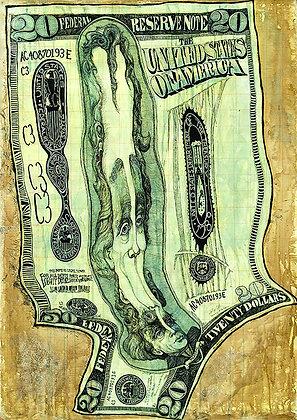 Bank Roll Money Melt of $20.00 Y2k+3
