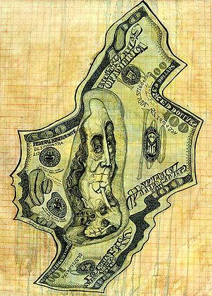 Bank Roll Money Melt of $100.00 Y2K+5