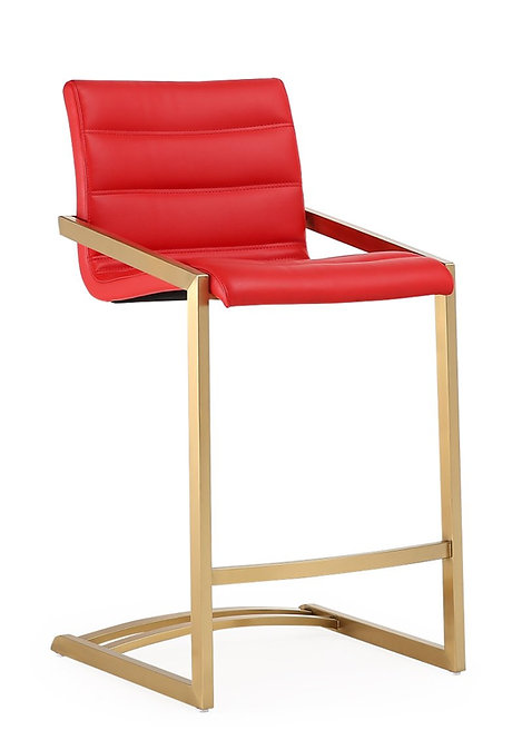 """""""RUBY"""" COUNTER BAR STOOL FOR 25""""-30"""" TOPS.IN GREY/RED/WHITE"""