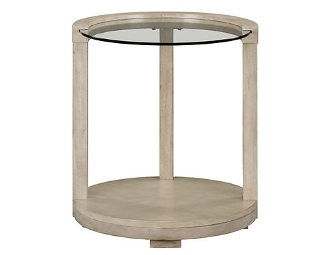 """""""CLEO"""" ROUND SIDE TABLE WHITE ASH"""