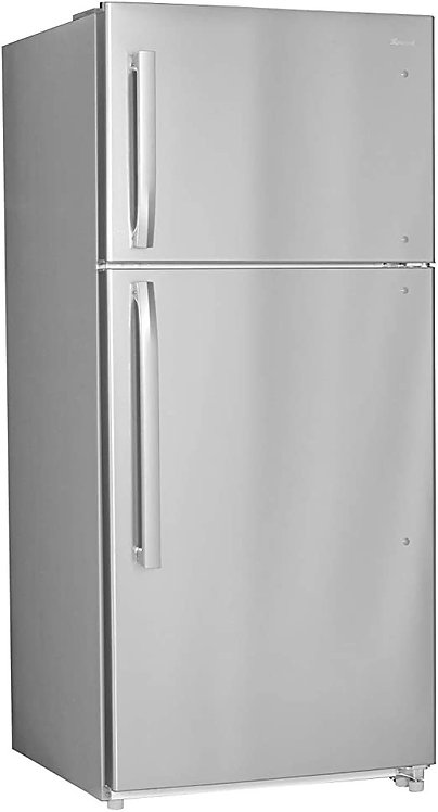 """""""SMAD"""" 18CU FT TOP MOUNT REFRIGERATOR IN STAINLESS STEEL"""