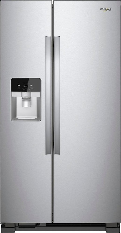 """""""WHIRLPOOL""""  21.4 Cu.Ft. 33""""Side-by-Side Refrigerator - Stainless steel"""