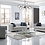 Thumbnail: St Regis 2- PCS Sofa Set in Light Grey Fabric