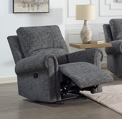 """""""Connor"""" Recliner Chair In Grey Upholstered Fabric"""