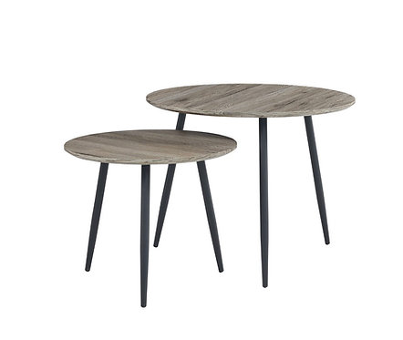 """""""Avalon"""" Nesting Tables In Grey Top & Metal Legs"""