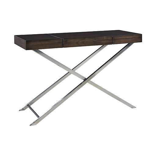 """""""AVA"""" CONSOLE TABLE WITH CENTER STORAGE IN BROWN"""