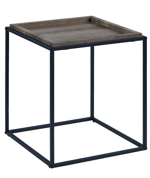 """""""Juliet"""" End Table In Grey Top/Black Legs"""
