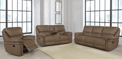 """""""Jerome"""" 2-Pcs Sofa Set Recliner Electric In Brown"""
