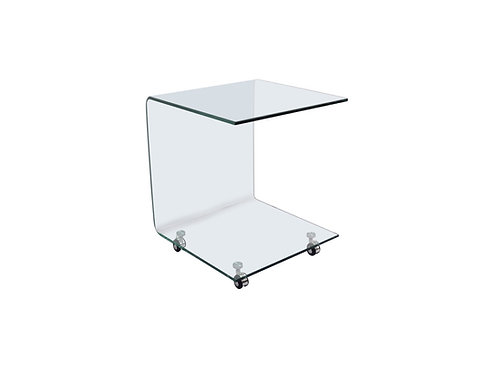 """""""Ralph""""  20"""" Accent Table in Glass"""