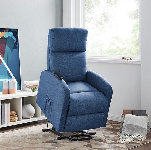 """ARMANI"" Lift Chair Recliner In Blue,Light Grey & Dark Grey Linen Fabric"