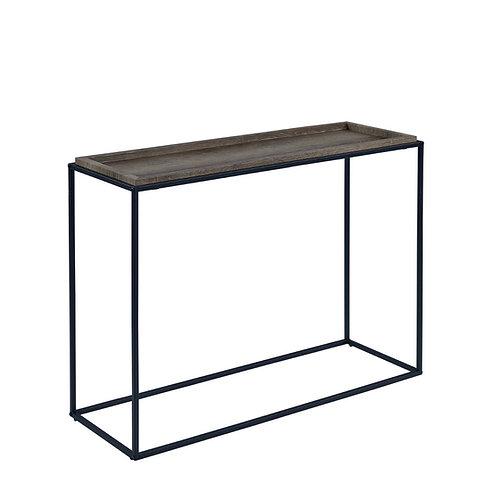 """Juliet"" Console Table In Grey Top/Black Legs"