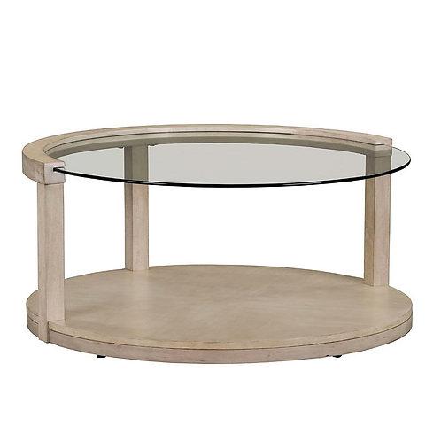 """CLEO"" ROUND CENTER TABLE WHITE ASH"