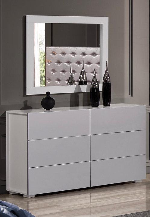 """Ferrari Miami"" 3-Pcs Dresser Set In White/Grey PVC"