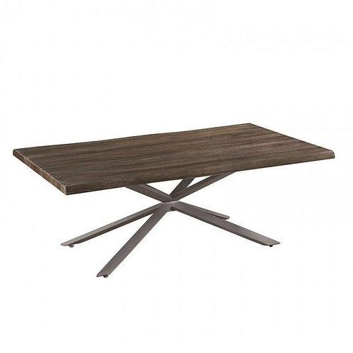 EDGE Coffee Table  in Dark Rustic Brown Wood.