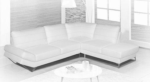 """""""FABIANO"""" 2-PCS SECTIONAL IN WHITE VINYL"""